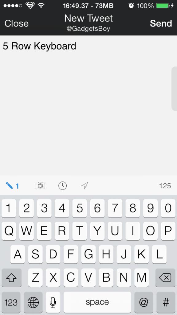 iPhone 5 Row Keyboard