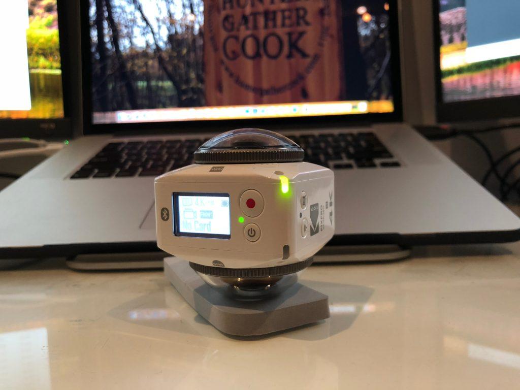 KODAK PIXPRO 4KVR360 4K Ultra HD 360 Action Camcorder - White