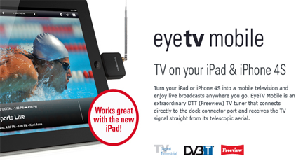 Watch Live TV on your iPad 2 or iPhone 4S with eyeTV