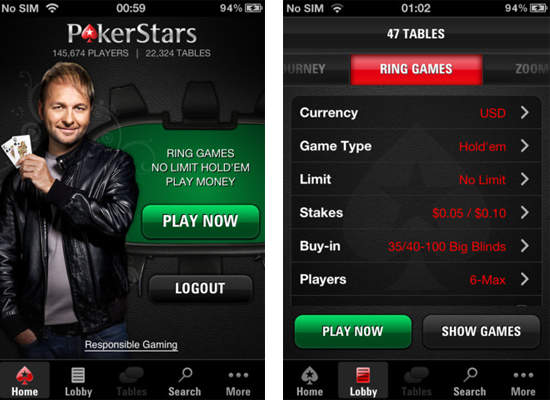 pokerstars phone app