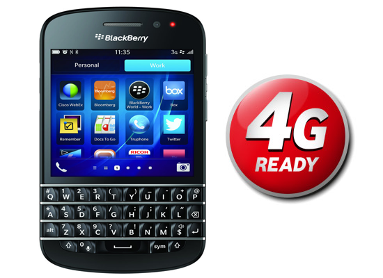 You can now pre-order the BlackBerry Q10 from Vodafone UK (4G Ready)