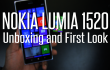 Nokia Lumia 1520 unboxing video