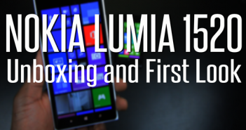 Nokia Lumia 1520 unboxing video