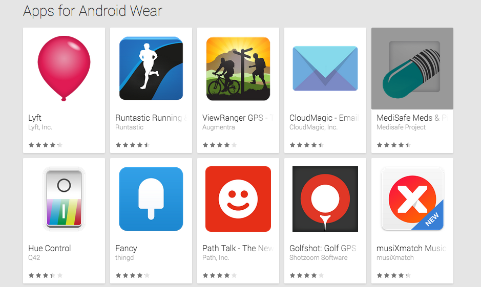 First apps for the Android Wear SDK launched