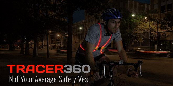 Noxgear Tracer360, a must have for cyclists