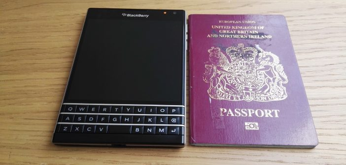 Blackberry Passport Size