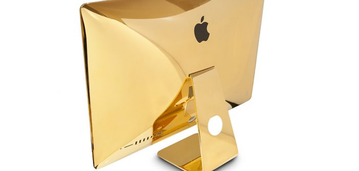Bored of your iMac? How about gold plating it?