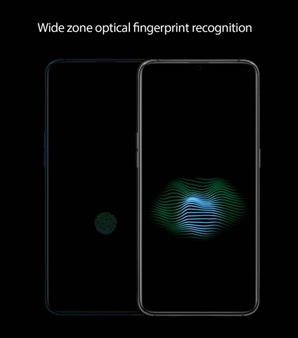 OPPO announces the wide zone optical fingerprint recognition at a technical communication session