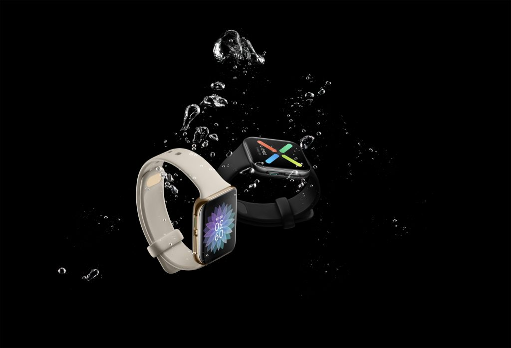 OPPO Watch Glossy Gold _ 41mm Black-water